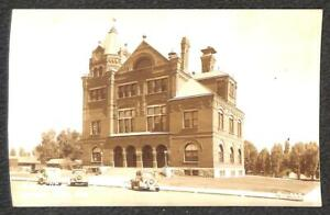 RPPC POST OFFICE & CARS CARSON CITY NEVADA REAL PHOTO POSTCARD (1940s)