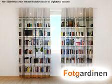 "Fotogardinen ""Regal"" Vorhang 3D Fotodruck, Fotovorhang, Maßanfertigung"