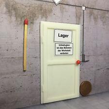 Puerta modelo (resin) en 1:24/1:25, para diorama-slot ferroviario - #2 LGB