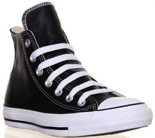 Converse Chuck Taylor All Star Unisex Leather Hi top Trainers - Black