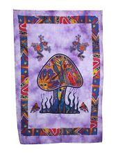 Hippie Mushroom Tapestry Poster Hanging Beach Fabric Cotton Print Art Wall Decor