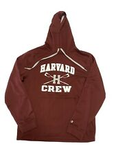 CHAMPION Harvard Crew Big Logo Hoodie Sweatshirt Crimson Medium