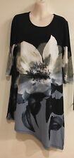 Noni B Asymmetrical Flower Print Dress Size S