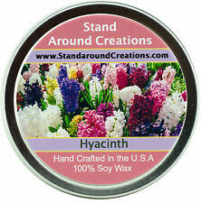 Premium 100% All Natural Soy Wax Candle - 4 oz Tin - Hyacinth