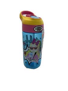 NEW Blue Jojo Siwa by ZAK! Designs B Leak-Proof Water Bottle Flip top 17.5 oz