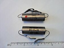2 NOS Vintage Astron 2x 1uF 50VDC Oil Capacitors military Amp Tone Caps TESTED