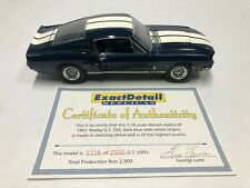 Exact Detail 1967 Ford Mustang Shelby GT 350 Fastback Blue Limited Edition 1:18