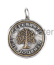 WAXING POETIC CELEBRATE THE JOURNEY MEDALLION CHARM or PENDANT Sterling Silver