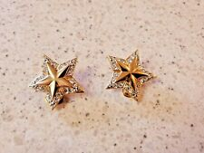 Sparkle - 1 Inch Golden Star Earrings-Clip Ons -Beautiful