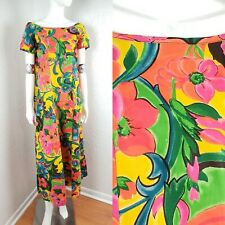 Vtg 60s Mode O' Day Floral Boho Chic Bohemian Hippie Flower Child Dress Sz S M