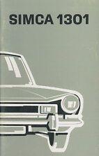1973 SIMCA 1301 BETRIEBSANLEITUNG HANDBUCH OWNER'S MANUAL NIEDERLÄNDISCH