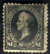 1894 US Stamp #261A $1 Perry Black TYPE II  NWM GD/VG