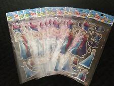 10 x Frozen Puffy Type Sticker Strips Sealed