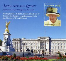 Gambia 2015 MNH Queen Elizabeth II Longest Reign Monarch 1v S/S Royalty Stamps