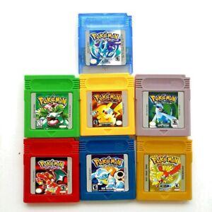 Pokemon GBC Spiele Gold Silber Kristall Gelb Rot Blau Grün GBA Gameboy Color