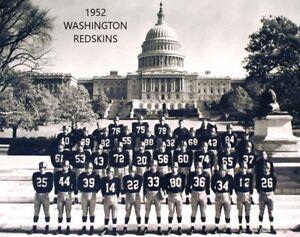 1952 WASHINGTON REDSKINS 8X10 TEAM PHOTO FOOTBALL NFL PICTURE WORLD CHAMPS