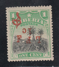 Liberia # M6d Mint Inverted LFF W/ 2nd F Inverted 1916 Military