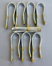 Set of 8 Wallace Sterling Silver Aegean Weave Napkin Rings;E122