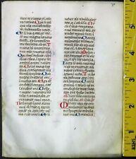 Deco.vellum manuscript lf.Breviary,many handptd.initials 2w/line drawings,c.1460