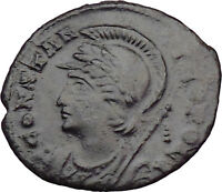 Constantine the Great  Founds CONSTANTINOPLE Ancient Roman Coin Victory i30008