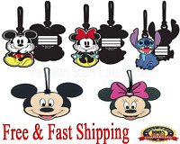 Disney Luggage Tag Mickey Mouse & Minnie Mouse & Stitch Luggage Tag Original