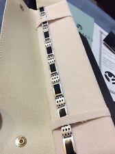 Passman Galleries 18K Solid White Gold Black Coral Bracelet New In Box!
