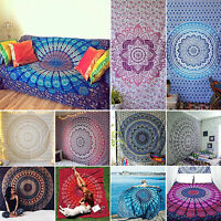 Indian Hippie Mandala Beach Tapestry Wall Hanging Throw Bohemian Bedspread Decor
