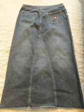 GORGEOUS BLUE EMBROIDERED BEAD DENIM PRINCIPLES SKIRT 10 PETITE