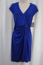 Marc New York Dress Sz 14 Cobalt Blue Cap Sleeve Business Cocktail Party Dress