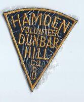 Hamden, CT Dunbar Hilll Volunteer Fire Department CO #8 patch 4-1/2 X 4 in
