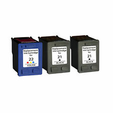 2XHP21+HP22 Reman Ink Cart 600% More Ink Deskjet 3910 3930v D1311 D1320 D1455