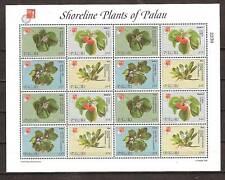 PALAU # 420-421 MNH SHORELINE PLANTS, FLOWERS (Miniature Sheets of 16)