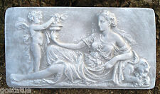 "Abs plastic set of 2 roman lady molds plaster concrete mould 13"" x 7"" x 1"" each"