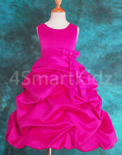 Hot Pink Wedding Flower Girl Flowergirl Dress Size 10