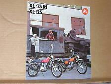 1974 Honda XL175K1 / XL125 Motorcycle Brochure/Poster - Literature