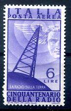 ITALIA 1947 - RADIO POSTA AEREA LIRE 6  NUOVO  **