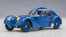 1:43 Autoart 1938 Bugatti Atlantic Type 57SC blue with metal wire spoke wheels