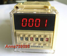 110V 120V AC Programmable Double Time Delay Relay DH48S-S & Free Socket Base UL