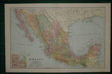 1905 antiguo mapa ~ México inferior California Chiapas Oaxaca Yucatán ~ nmexico City