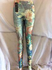Womens girls ladies floral print leggings
