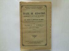 TRAITE DE REDACTION 1930 NAUD ROLLIN TELEGRAPHE TELEPHONE POSTE PTT