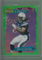 2015 TOPPS 95 FINEST GREEN REFRACTOR 95FRR MELVIN GORDON RC /299 CHARGERS ROOKIE