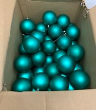 "VICKERMAN: Shiny Green/Teal 60 Pack Shatterproof Christmas Ball Ornament 2.75"""