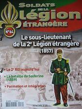 FASCICULE 64 LEGION ETRANGERE SOUS LIEUTENANT DE LA 2e LEGION ETRANGERE (1857)