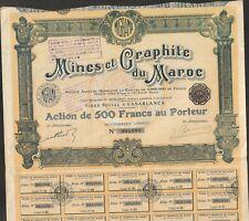 MINES & GRAPHITES DU MAROC (I)