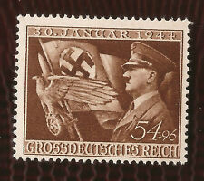 3rd Third Reich Post Nazi Germany mail Hitler flag eagle postage stamp MNH
