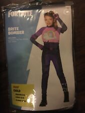 NEW AUTHENTIC Fortnite Brite Bomber Halloween Costume Child Sz Large 12-14