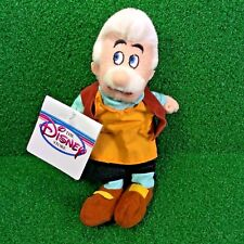 NEW Disney Mini Bean Bag GEPPETTO 8'' Pinocchio Plush Toy - MWMT - FREE Shipping