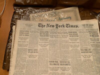 New York Times Newspaper April 19 1938  Certificate of Authenticity in case