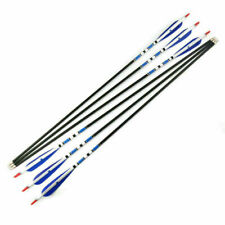 """6PCS 31"""" Carbon Arrows Turkey Feathers Hunting Archery For Compound&Recurve Bow"""